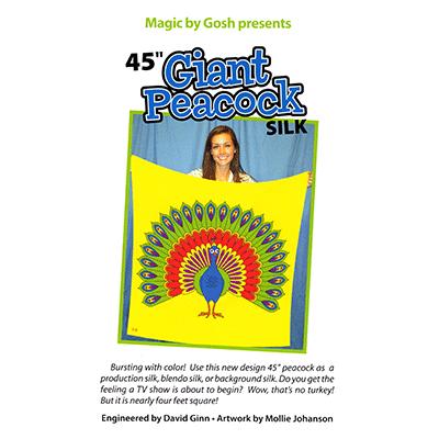 "Giant Peacock Silk 45"" - magic"