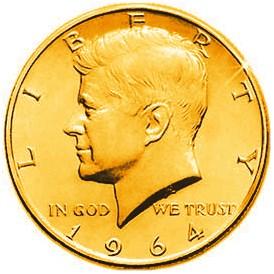 Gold Plated half Dollar - magic