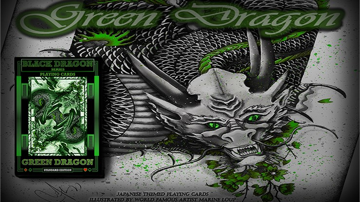 Green Dragon Playing Cards - magic