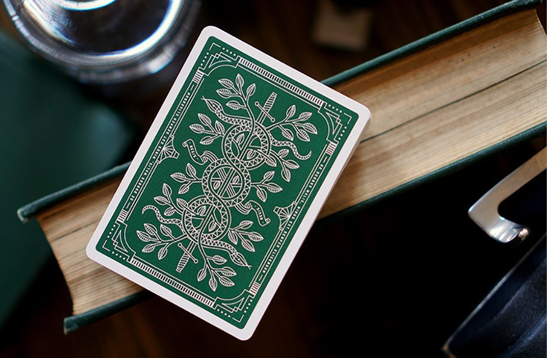 Green Monarchs Playing Cards - magic