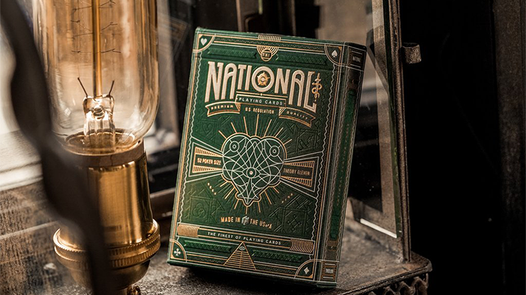 Green National Playing Cards - magic