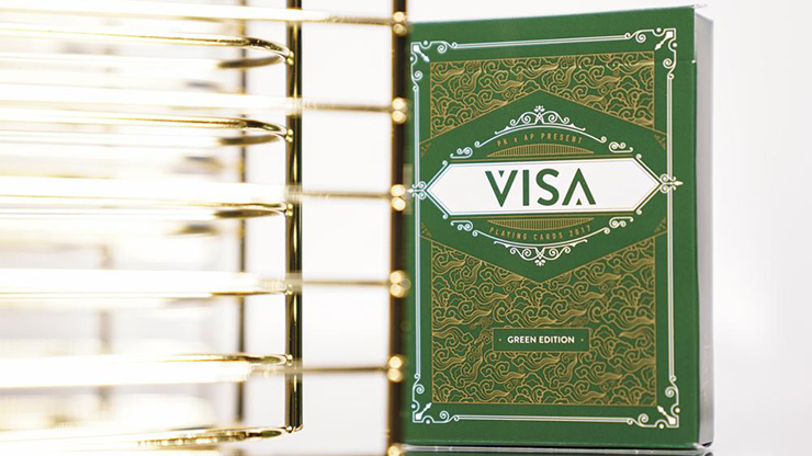 Green VISA Playing Cards - magic