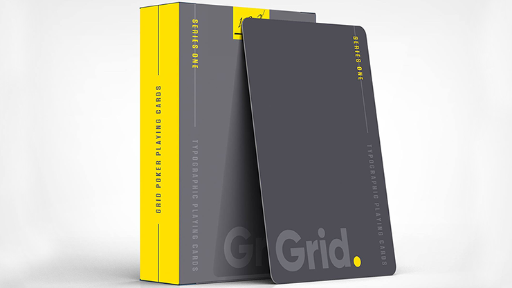 Grid Typographic Playing Cards - magic