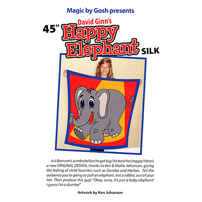 "Happy Elephant Silk 45"" - magic"