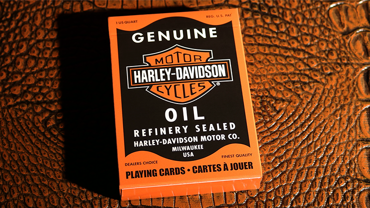 Harley Davidson Oil Playing Cards - magic