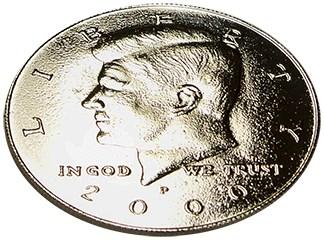 Kennedy Palming Coin (Half Dollar) - magic
