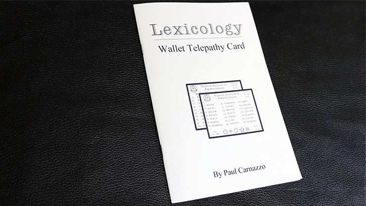 Lexicology 2.0 with Telepathy card - magic