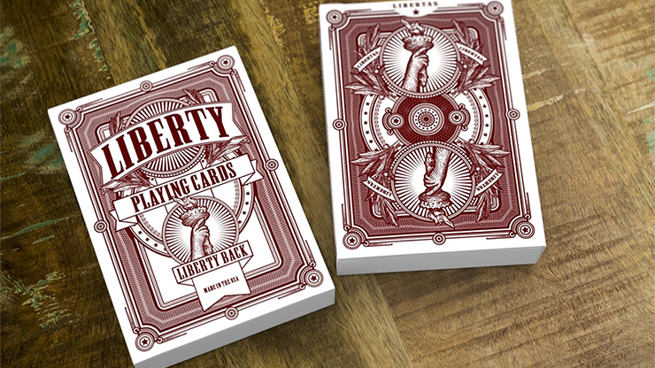 Liberty Playing Cards (Red) - magic