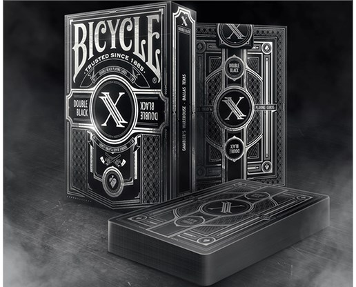 Limited Edition Bicycle Double Black 2 Playing Cards - magic