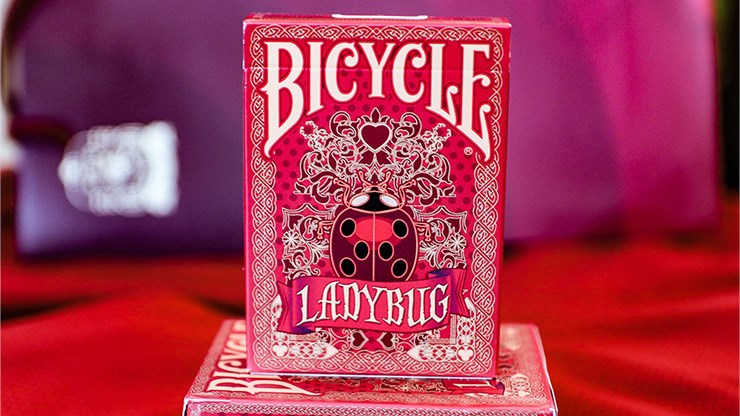 Bicycle Ladybug Playing Cards - Red - magic