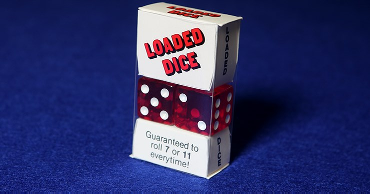 Loaded Dice Acrylic (Red) - magic