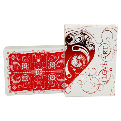 Love Art Deck Deck Limited Edition (Red) - magic