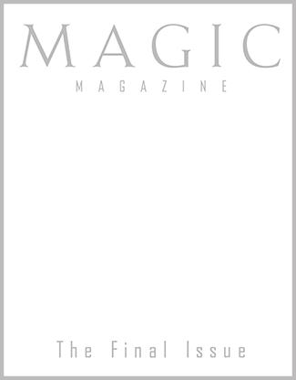 MAGIC Magazine Final Issue - magic