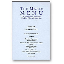 Magic Menu Issue 63 - magic