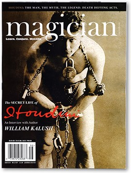 Magician Magazine HOUDINI Issue - magic