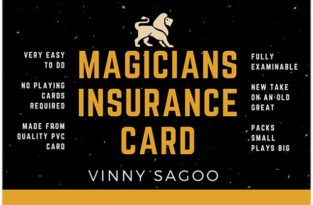 Magicians Insurance Card - magic