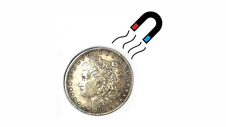 Magnetic Morgan Dollar Replica - magic