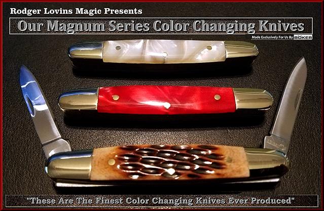Magnum Color Changing Knife Set - magic