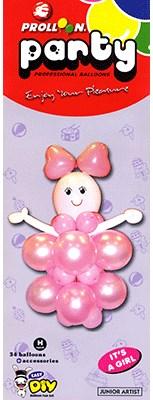Mini Girl Balloon Kit - magic
