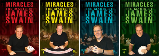 Miracles: The Magic of James Swain Volumes 1 - 4 - magic