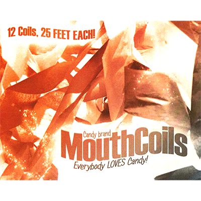 Mouth Coils 25 ft (Black/ Orange) - magic