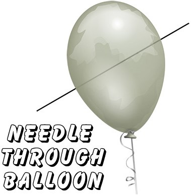 Needle Thru Balloon Professional - magic