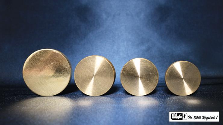 Nested Coin Box Brass - magic