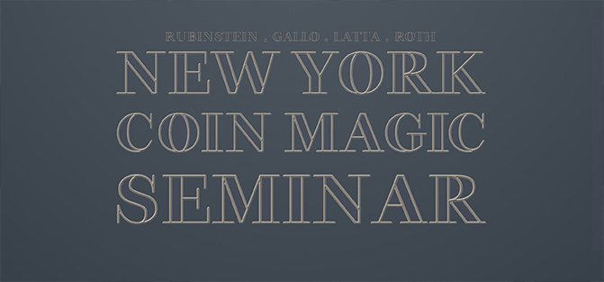 New York Coin Magic Seminar - magic