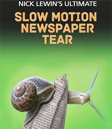 Nick Lewin's Ultimate Slow Motion Newspaper Tear - magic