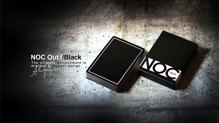 NOC Out: Black Playing Cards - magic