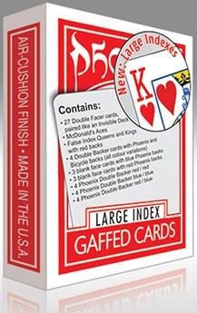 Phoenix Gaffed Deck Large Index - magic