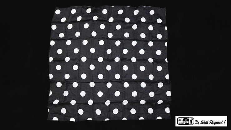Polka Dot Hanky, White on Black - magic