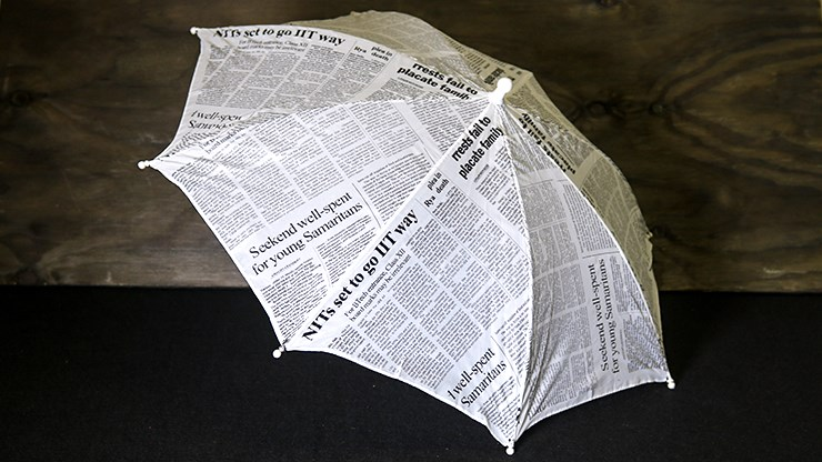 Production Umbrella (Newspaper Design) - magic