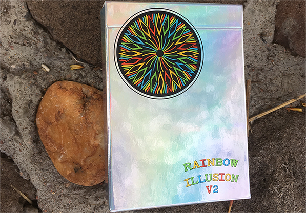 Rainbow Illusion Metallic Playing Cards V2 - magic