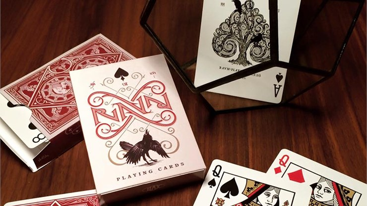 Ravn Playing Cards (Red) - magic