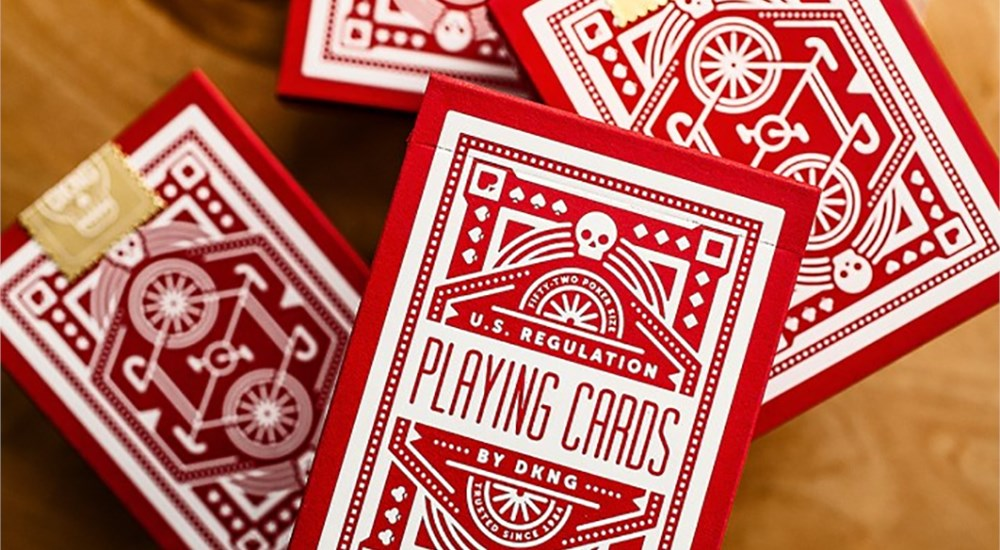 Red Wheel Playing Cards - magic