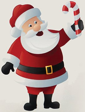 Santa and The Candy Canes - magic