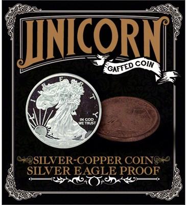Silver - Copper Coin - Silver Eagle Proof - magic