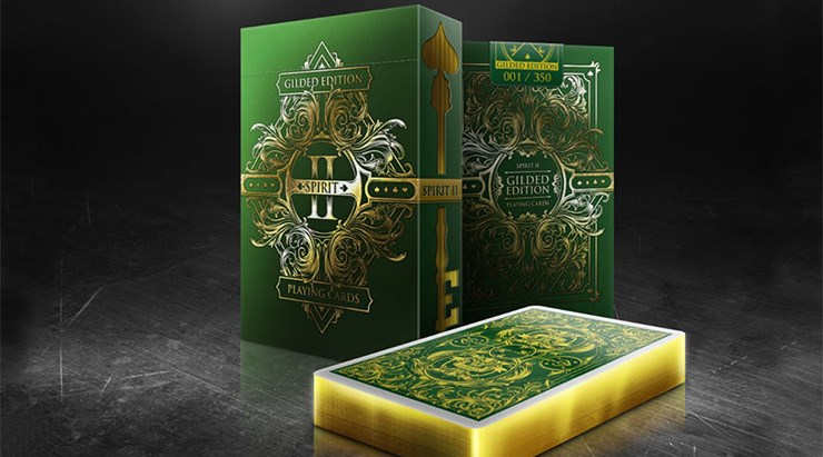 Spirit II Green  Playing Cards - magic