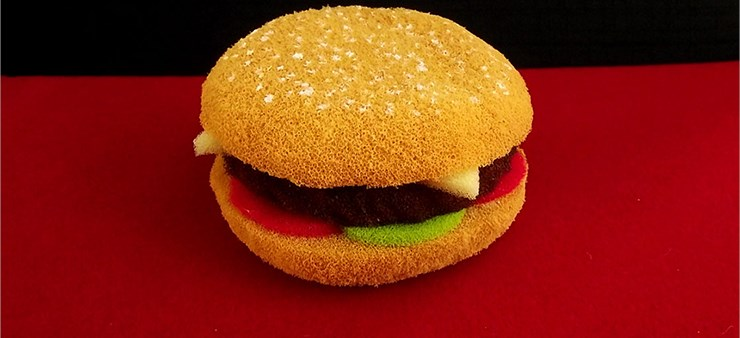Sponge Hamburger - magic