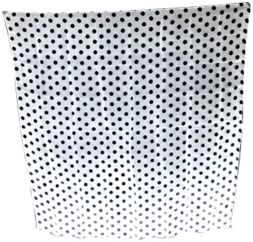 "Spotted Silk 36"" (White w/ Black Dots) - magic"