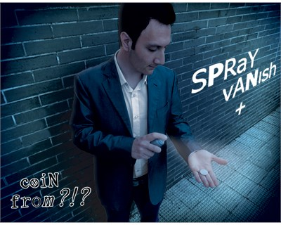 Spray Vanish + Coin from ?!? - magic