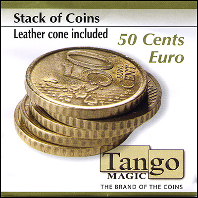 Stack of Coins - 50 Euro Cents - magic