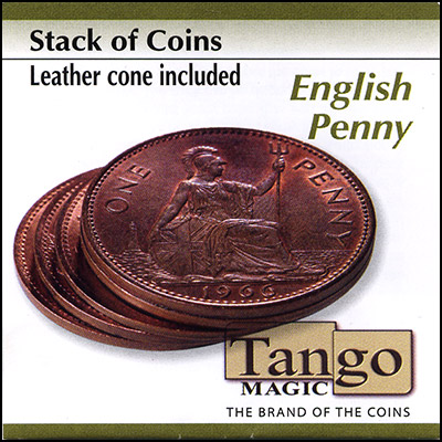 Stack of Coins - English Penny - magic