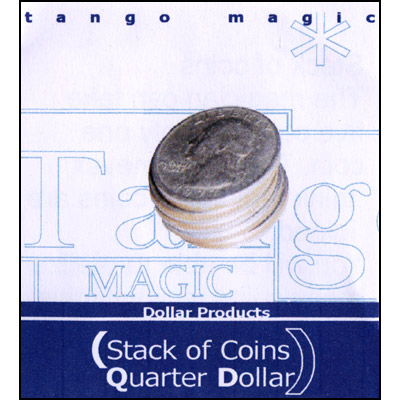 Stack of Coins - Quarter Dollar - magic