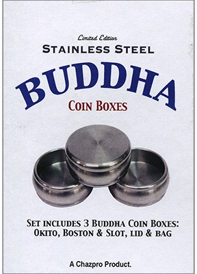 Stainless Steel Buddha Coin Box Set - magic