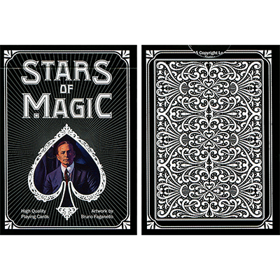 Stars of Magic Playing Cards (Black) - magic