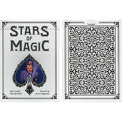 Stars of Magic Playing Cards (White) - magic