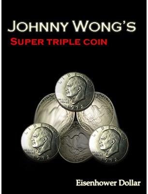 Super Triple Coin Eisenhower Dollar - magic