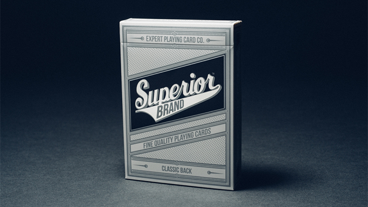 Superior Playing Cards (Black) - magic